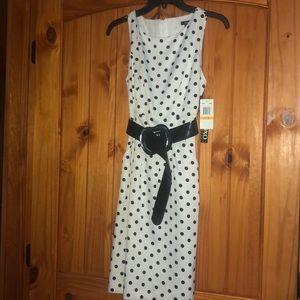 NWT black and white polka dot dress